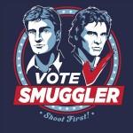 Heti póló – 'Vote Smuggler'