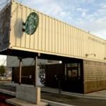 Starbucks kávézó konténerből