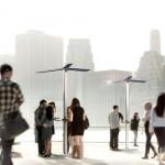 Nyilvános napelemes mobiltöltő állomásokat telepítenek New Yorkban