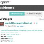 AstroPrint webfelülettel a 3D nyomtatáshoz